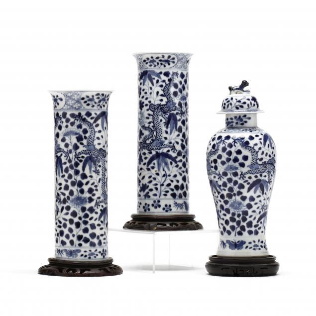 a-chinese-blue-and-white-porcelain-garniture-set-with-dragons