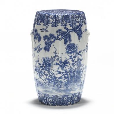 an-asian-porcelain-blue-and-white-garden-stool