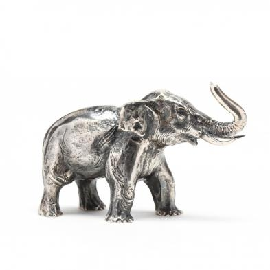 a-sterling-siver-miniature-elephant-by-s-kirk-son