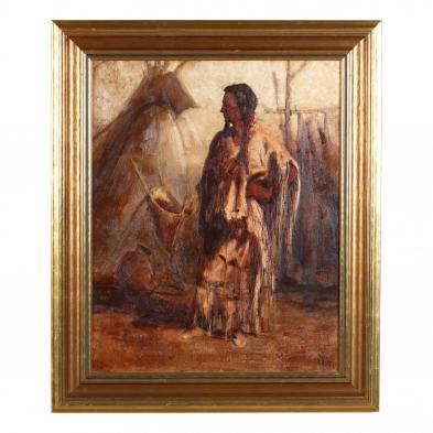buck-mccain-ca-az-born-1943-untitled-portrait-of-a-plains-woman