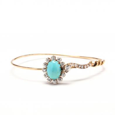 gold-diamond-and-turquoise-snake-bracelet