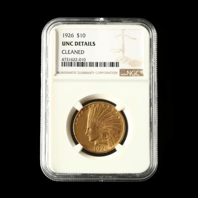1926-10-indian-head-gold-eagle-ngc-unc-details-cleaned