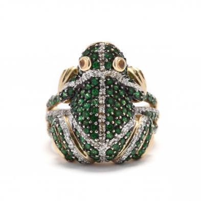 14kt-gold-gemstone-frog-ring