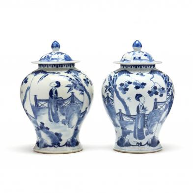 a-pair-of-chinese-porcelain-blue-and-white-temple-jars-with-covers