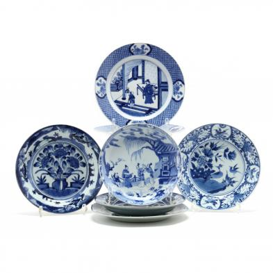 a-group-of-chinese-blue-and-white-porcelain