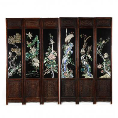 an-impressive-chinese-cloisonne-embellished-six-panel-screen