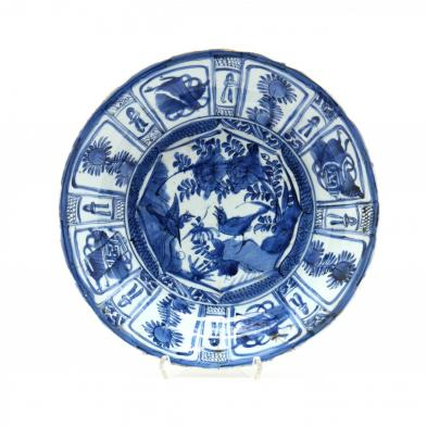 a-large-chinese-swatow-blue-and-white-shallow-bowl