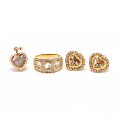 three-gold-and-diamond-heart-motif-jewelry-items