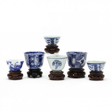 six-asian-blue-and-white-porcelain-tea-bowls