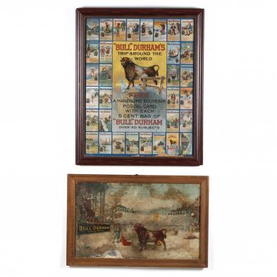 two-bull-durham-tobacco-advertising-lithographs