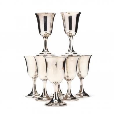 an-assembled-set-of-8-sterling-silver-goblets