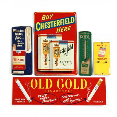 group-of-five-vintage-tobacco-advertisements