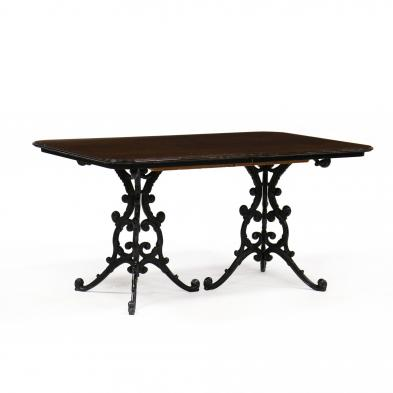 mid-century-double-pedestal-dining-table