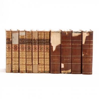 two-sets-of-antique-leatherbound-books