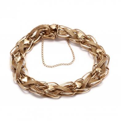 14kt-gold-woven-bracelet