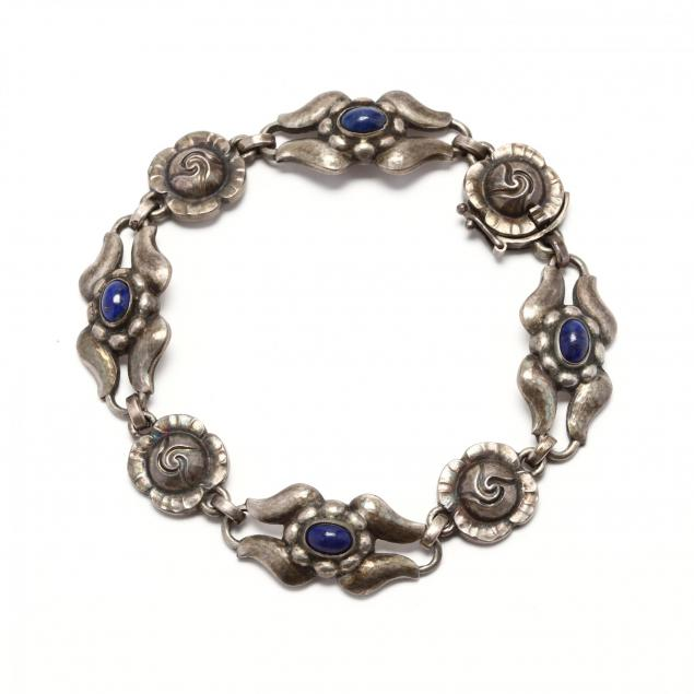 sterling-silver-and-lapis-bracelet-georg-jensen