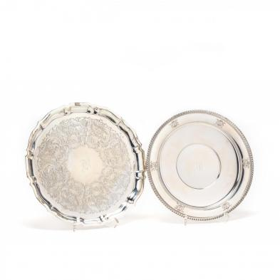 two-sterling-silver-serving-platters