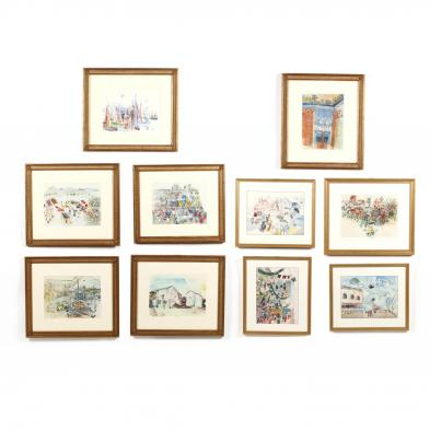 after-raoul-dufy-french-1877-1953-ten-framed-works-from-i-raoul-dufy-ten-color-collotypes-after-watercolors-i