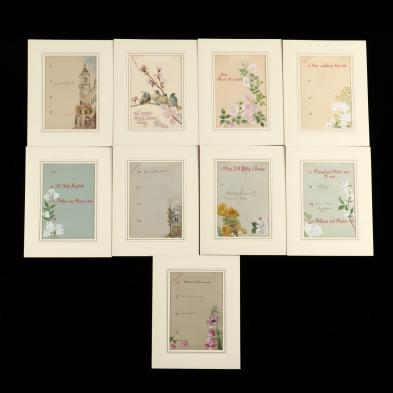 a-collection-of-nine-victorian-illuminated-calendar-sheets