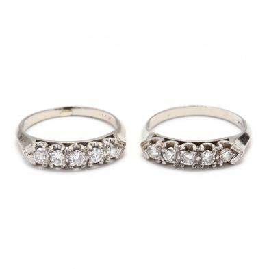 pair-of-vintage-14kt-white-gold-and-diamond-set-bands