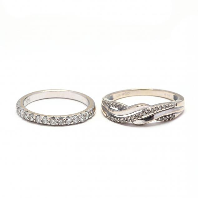 two-white-gold-and-diamond-rings