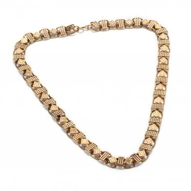 antique-gold-filled-chain-necklace