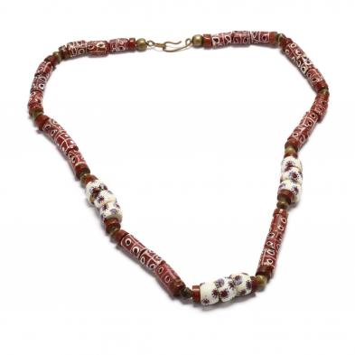 african-trade-bead-necklace