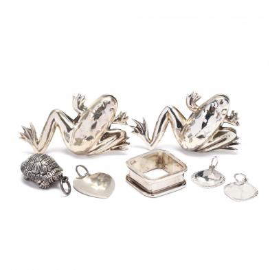 group-of-silver-jewelry-items