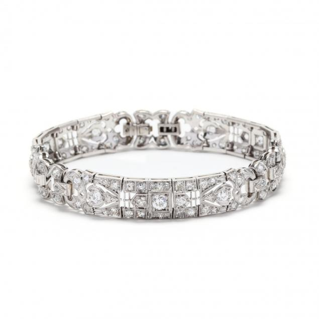 art-deco-platinum-and-diamond-bracelet