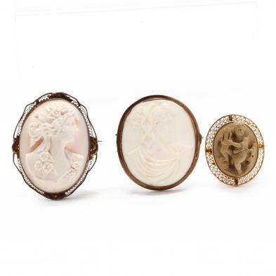 three-victorian-cameo-brooches