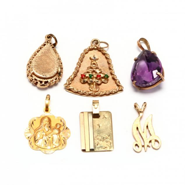 six-gold-charms-and-pendants