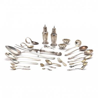 collection-of-sterling-silver-flatware-and-holloware