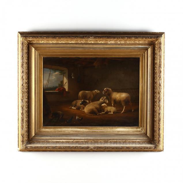 francois-vandeverdonck-dutch-1848-1875-sheep-in-barn