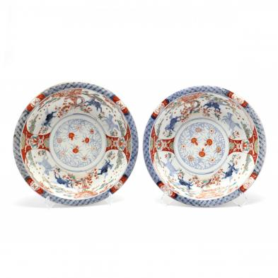 a-pair-of-japanese-large-porcelain-imari-bowls-with-horses