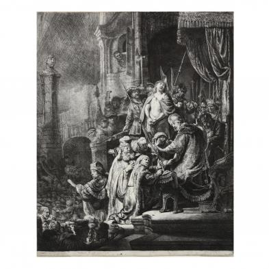 rembrandt-van-rijn-dutch-1606-1669-i-christ-before-pilate-large-plate-i
