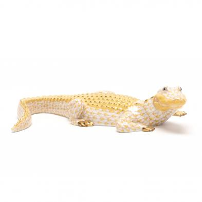 herend-porcelain-butterscotch-alligator