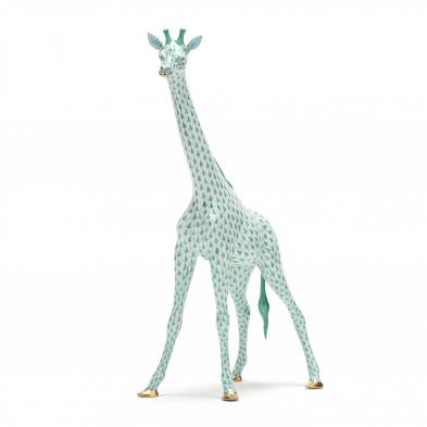 herend-green-fishnet-giraffe