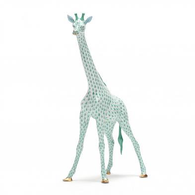 herend-green-fishnet-giraffe