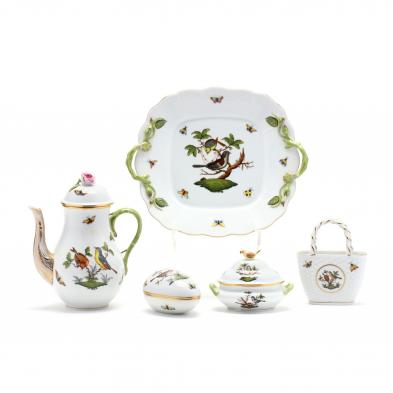 a-group-of-herend-decorated-in-the-rothschild-bird-pattern