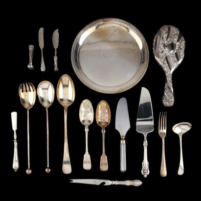 collection-of-assorted-sterling-silver-and-silverplate