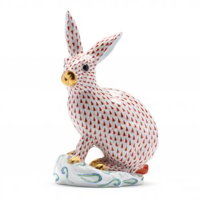 a-large-rust-fishnet-herend-rabbit