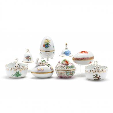 eight-herend-porcelain-decorative-accessories
