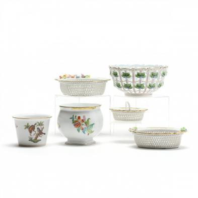 a-group-of-herend-porcelain-accessories