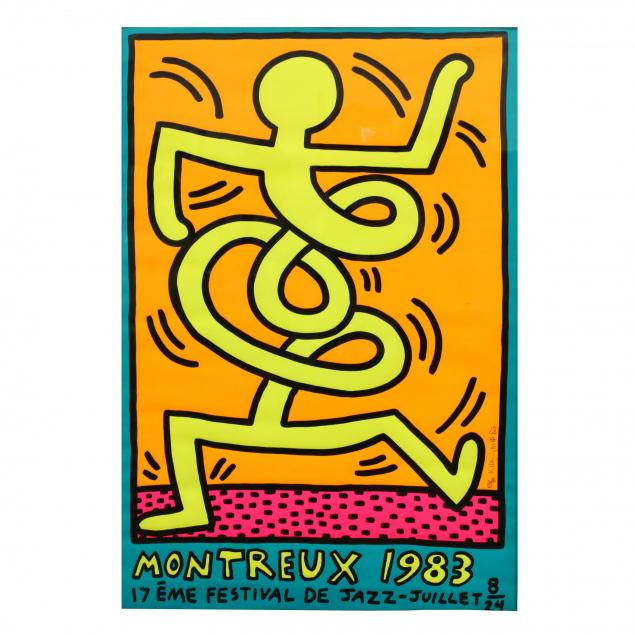 keith-haring-american-1958-1990-i-montreux-festival-de-jazz-i-artist-signed-and-with-remarque