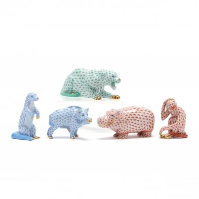 five-herend-porcelain-animals-from-africa