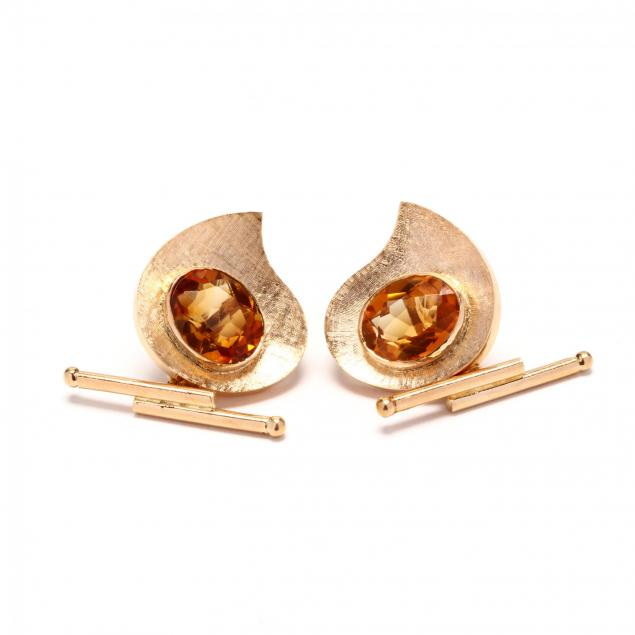 18kt-gold-and-citrine-cufflinks-ouro