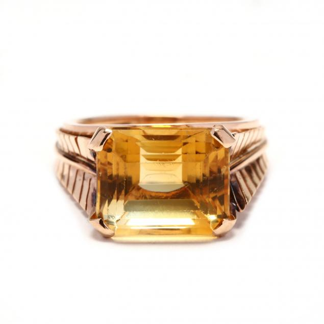 gold-and-citrine-ring