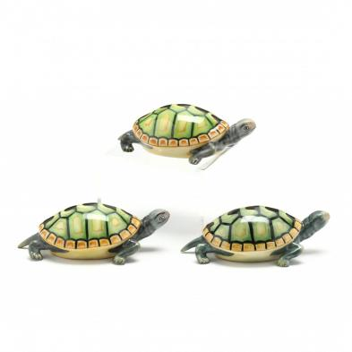 three-herend-natural-painted-turtles
