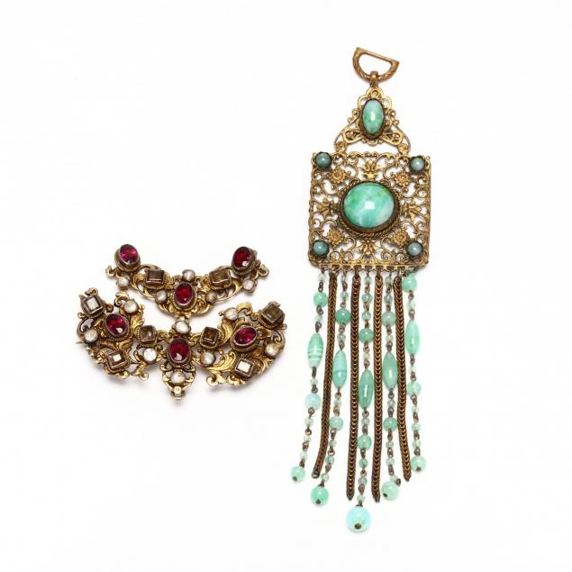 two-antique-jewelry-items