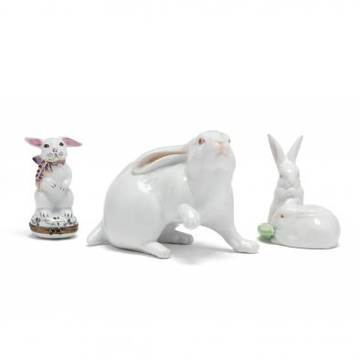 a-selection-of-three-white-rabbit-porcelains